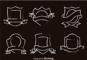 Vecteurs dessin dessinés en forme de bouclier