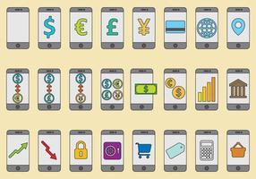 Vecteurs de services bancaires mobiles