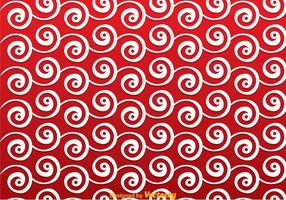 Red swirly background vecteur