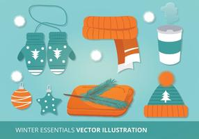 Illustration vectorielle d'accessoires d'hiver vecteur