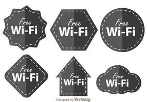 Symbole Wifi gratuit vecteur