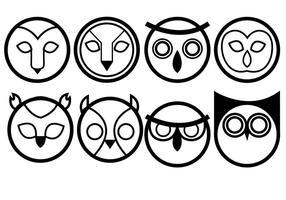 Vecteurs d'icônes des hiboux