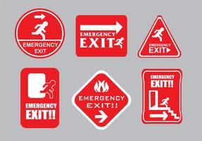Vecteurs de signe d'évacuation d'urgence vecteur