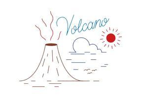 Vecteur volcan gratuit