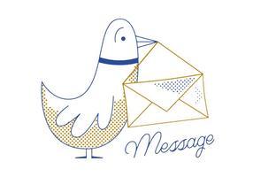 Vecteur de pigeon de message gratuit