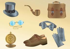 Accessoires pour hommes vecteur