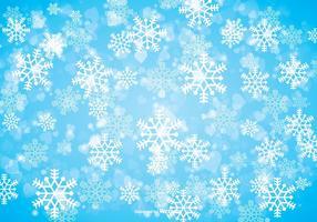 Contexte de flocon de neige d'hiver