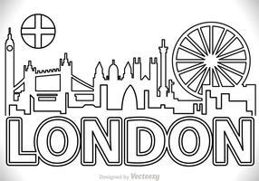 London City Scape Outline Vector