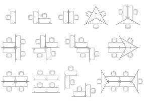 Vecteurs de cubes de bureau