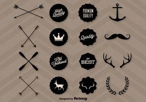 Graphiques de hipster de qualité vecteur