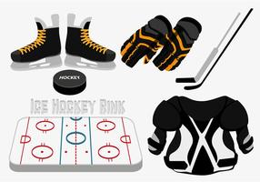 Vecteur de patinage de hockey sur glace