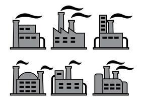 Vecteurs d'icônes d'usine vecteur