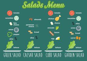 Salades Recettes vecteur