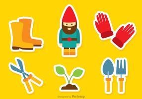 Icônes de couleur de jardinage