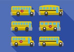 Vecteurs de bus scolaire