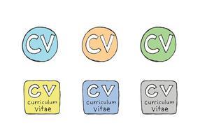 Série de vecteurs Curriculum Vitae gratuits