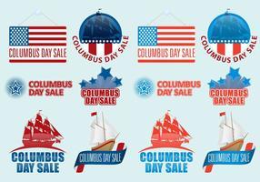 Vecteurs de vente de Columbus Day