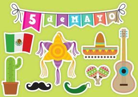 Icônes vectorielles Cinco De Mayo