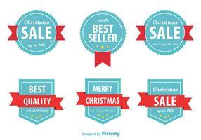 Étiquettes de Noël Meilleur vendeur vecteur
