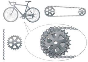 Vecteurs de pignon de vélo vecteur