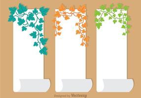 Ivy Vine Sur papier Vecteur