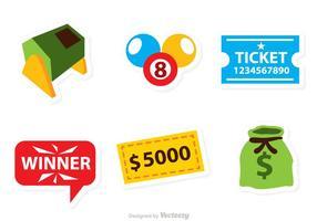 Icônes de loterie vectorielle vecteur
