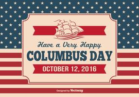 Illustration vintage de Columbus Day