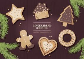 Illustration Vectorisée en Gingerbread