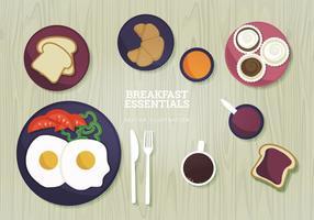 Illustration vectorielle de petit-déjeuner