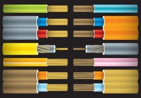 Câbles nets colorés vecteur