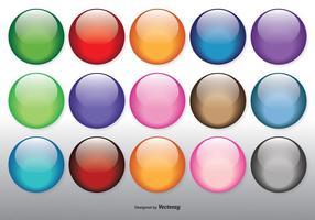 Ensemble d'orbes brillants colorés