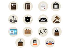 Icônes vectorielles du bureau de la loi