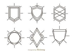 Contour Shield Shape vecteur