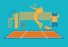 Vecteurs de volleyball vecteur