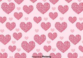 Forme de l'amour en forme de léopard vecteur