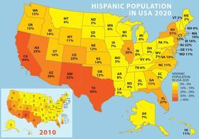 Population hispanique aux États-Unis vecteur