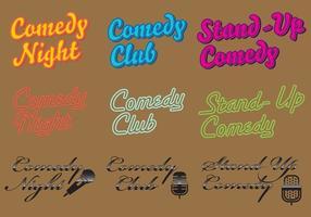 Vecteurs de logo de comédie vecteur