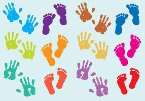 Vecteurs d'impression pour bébés vecteur