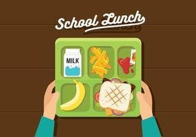 Déjeuner scolaire vectoriel