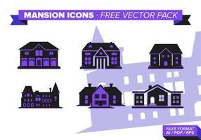 Pack de vecteur gratuit de l'icône Mansion Icon s