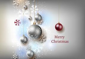 Vecteur de fond gris de Noël gratuit