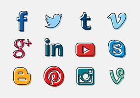 Icône du logo social des vecteurs