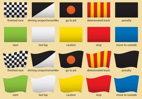 Drapeaux de course de F1 vecteur