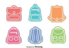Vecteurs de sac colorés