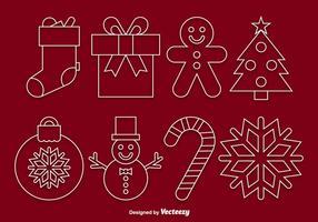 Vecteurs linéaires de Noël vecteur