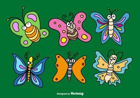 Vecteurs papillons de bande dessinée vecteur