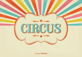 Illustration colorée du cirque de sunburst vecteur