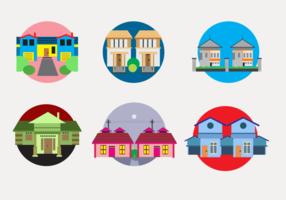 Vecteur Colorful Townhomes