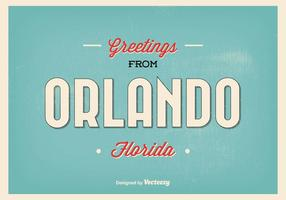 Orlando florida greeting illustration vecteur