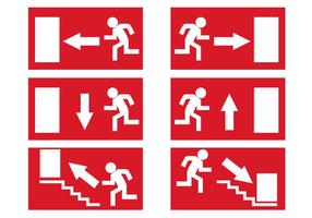 Vecteur libre de signaux de sortie d'urgence
